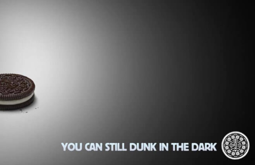 Oreo - You can still dunk in the dark Super Bowl